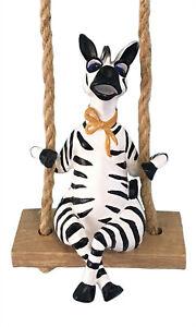 Zebra 20492 Figurine Garden Swinger Indoor Outdoor Decor Blue Sky Clayworks