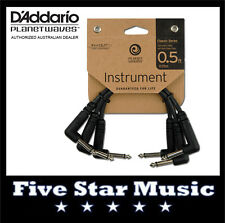 "D'ADDARIO PLANET WAVES CLASSIC PATCH CABLES 3 x 6"" PW-CGTP-305 LEAD NEW SIX INCH"
