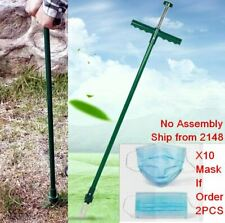 NO BEND STANDUP WEED REMOVER STEEL WEED REMOVAL GARDEN GRASS TWISTER NO ASSEMBLY