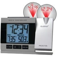 NEW La Crosse Technology Wt-5220u-it-cbp Atomic Projection Alarm Clock With Indo