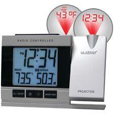 New La Crosse Technology Wt-5220u-it-cbp Atomic Projection Alarm Clock With Indo