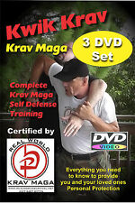 """COMPLETE KRAV MAGA 12 Disk Set"", everything you need for Self Defense, any age."