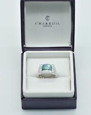 Charriol Anello Argento Sterling 925 Blu/Verde Zirconi NP.145 € 22210057152/N278
