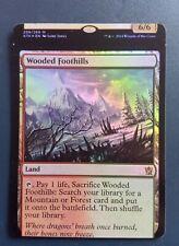 Wooded Foothills Khans of Tarkir n°249 Foil Mint miscut