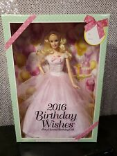 2016 BIRTHDAY WISHES BARBIE DOLL PINK LABEL MATTEL DGW29 NRFB