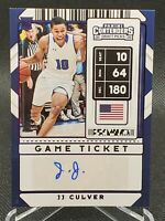 JJ Culver 2020-2021 Panini Contenders Auto Game Ticket SP #'d /99 100 pt game 🔥