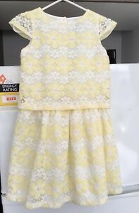 Origami Yellow Embroidered Dresses For Girls (Size 7) (Brand New With Tags)