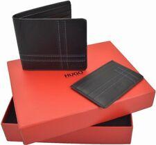 BNIB Hugo Boss Wallet Cardholder Gift Set (Wallet and Cardholder) Leather Black