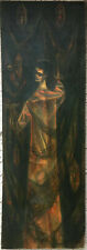 MID-CENTURY MODERN Oil ~ ABSTRACT MYSTICISM ~ 1951 Jarvin Parks ATLANTA, GEORGIA