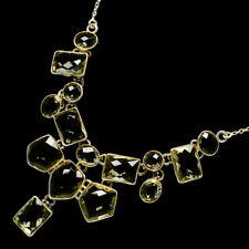 """Green Amethyst 925 Sterling Silver Necklace 18 To 19 1/2"""" Ana Co Jewelry N12117"""