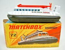"MATCHBOX SF N. 72b hovercraft ""no. 72 & 2"" piastra di base Top in box"