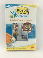 """NEW UNOPENED 3M Post-it Picture Paper Matte 4""""x 6"""" 65 Sheets Print, Peel, Stick"""