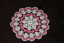 New Hand Crocheted Doily - white, french rose Valentine Mothers day Christmas
