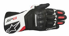 Alpinestars SP-8 V2 Leather Motorcycle Motorbike Gloves - Black/White/Red