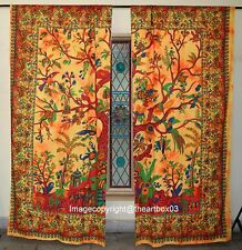 Indian Tree Of Life Wall Curtains Tapestry Boho Decorative Window Valances Throw