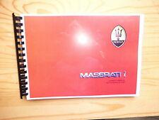 Betriebsanleitung MASERATI 425i Spyder i  Biturbo Si DEUTSCH - sehr selten