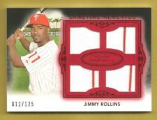 JIMMY ROLLINS 2011 Topps Marquee Gametime Quad Relic Game Jerseys Red #d 012/125