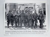 Autographed Band of Brothers Easy Company Photograph St. Marie-du-Mont 4 Veteran