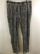 Crave Fame By Almost Famous Womans M Lounge Pants Lightweight Gray & White