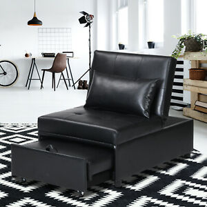 Folding Ottoman Sofa Bed Convertible Chair 4 in 1 Multi-Function Sleeper Sofa*