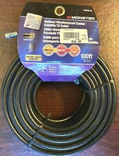 Monster Outdoor Weatherproof Cable/Satellite Tv Cable 140038-00 (100 ft)