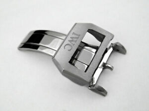 OEM IWC 18mm Deployment Clasp Buckle Stainless Steel for Leather Strap Band NEW