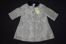 NWT Gymboree Prim And Proper Jacket Dressy Coat Size 3-6 Months Grey Silver Gray