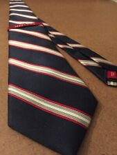 NEW! Merona Classic Striped Necktie 100% Silk Navy Blue Red White
