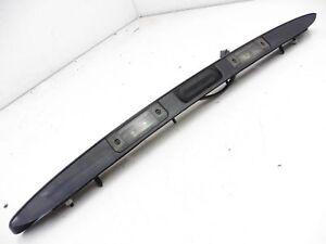 Saab 9-3 03-07 Bootlid Tailgate Handle Number Plate Lights Metalic Black
