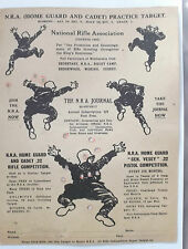 2ww used  home guard and cadet target  practice sheet for shooting Germans