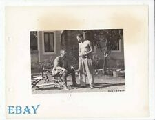 Norman Foster barechested, Henry King VINTAGE Photo State Fair candid on set