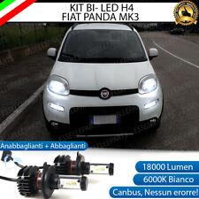 KIT LED H4 6000K FIAT PANDA II MK2 18000 LUMEN CANBUS XENO XENON 100% NO ERRORE