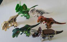 6 große Jurassic World Dinosaurier T Rex Indominus Dilophosaurus Triceratops NEU