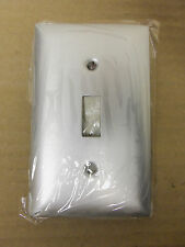 New Hubbell Wallplate Sa1 Anodized Aluminum one Gang for Toggle Switch