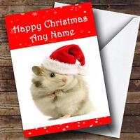 Hamster Christmas Greetings Card Personalised
