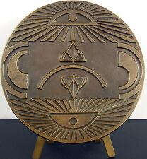 "Médaille ""Cyclope mon ami"" sc Raymond Pagès numérotée EE/75 1978 96mm 362g medal"