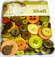 Blumenthal Lansing Buttons - Assorted Sizes 3.5 oz Pack - TURTLE SHELL