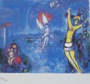 MARC CHAGALL CRUCIFIXION 1985  HAND NUMBERED 290/333 ETCHING SPADEM PARIS