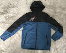 NWT Gerry Soft Shell Blue/Black Windbreaker Rain Jacket Size M