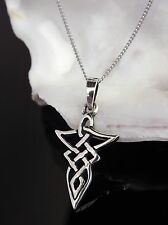 Sterling Silver 925 Celtic Tribal Pendant 18'' Necklace Jewellery Gift Box