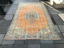 Oushak Vintage Handmade Floor Antique Rug,Distressed Carpet,Rugs Turkish