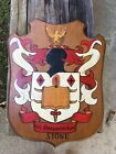 """Stone Family Crest  Coat of Arms Large Wood Wall Plaque 15"""" X 18"""""""