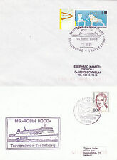 SWEDISH FERRY MS ROBIN HOOD IV A SHIPS CACHED COVER & CACHED PLAIN BACK CARD