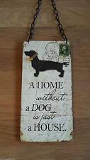 Wooden Dog Decorative Indoor Signs/Plaques