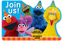 Sesame Street Invitations X 8 Birthday Invites Party Supplies