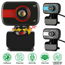 HD Webcam Auto Focusing USB Computer Web Camera W/ Microphone For PC Laptop US