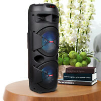 Portable Dual 6.5'' Bluetooth FM Karaoke Multimedia Speaker With Free Micphone