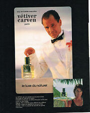 PUBLICITE ADVERTISING 025  1984  CARVEN eau de toilette homme VETIVER