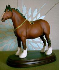 ROYAL DOULTON HORSE SHIRE ON PLINTH MODEL No DA 238 STYLE TWO BROWN MATT VGC