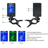 Pro LCD Clip-on Electronic Digital Guitar Tuner for Chromatic Bass Ukulele newly